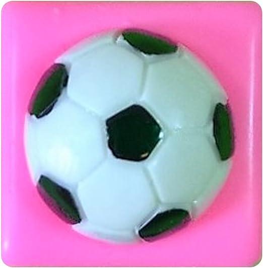Balón de fútbol de fútbol 25mm Molde de silicona para la torta de ...