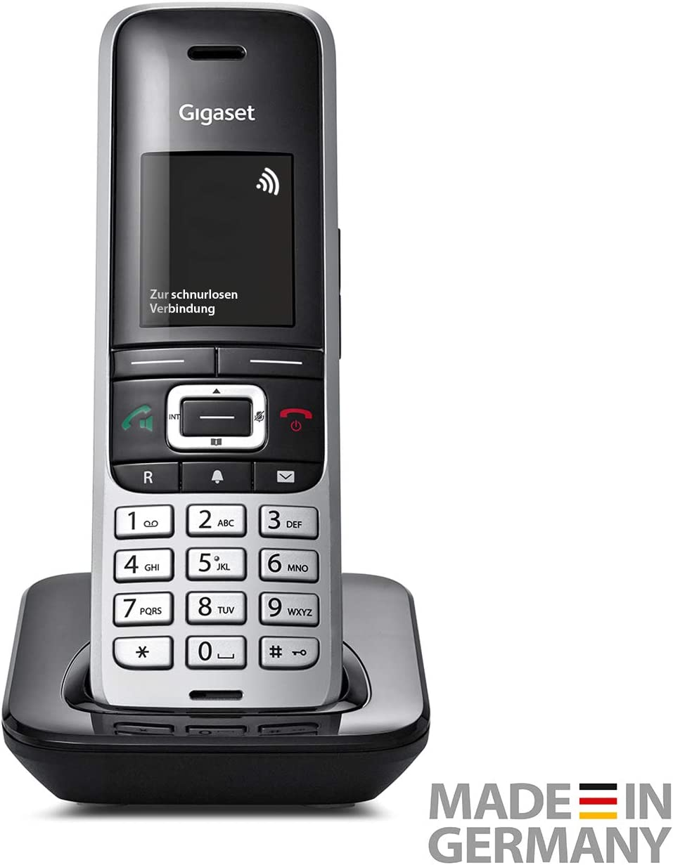 Gigaset S850HX Analog/DECT Telephone Negro, Plata Identificador de Llamadas - Teléfono (Analog/DECT Telephone, 500 entradas, Identificador de Llamadas, Negro, Plata)