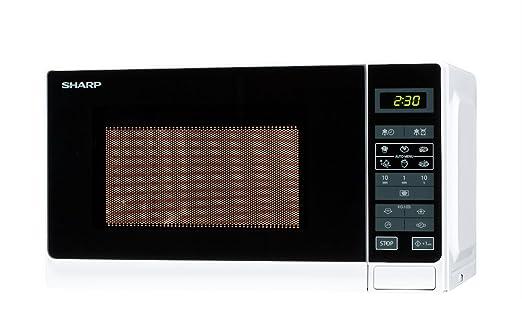 sharp r 242 w w microwave oven freestanding white amazon co rh amazon co uk Microwave Oven Sharp R 308J Sharp View Cam Cameras