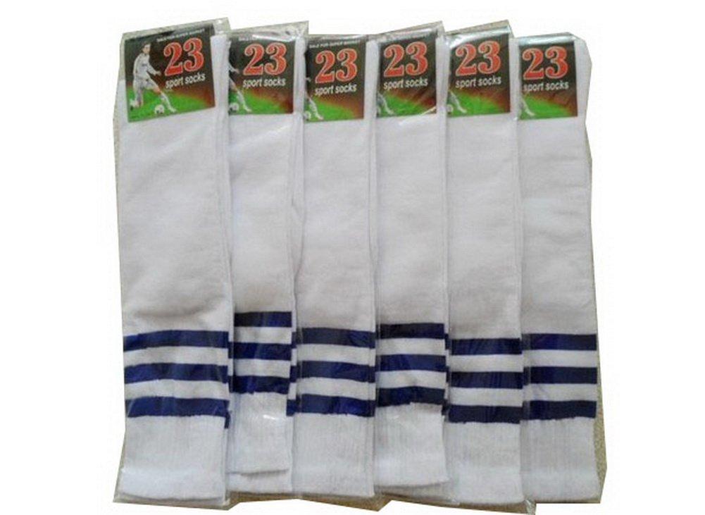 Set of 6 Cheerleading Crew Socks Knee Socks Womens Sports Socks White PANDA SUPERSTORE PS-SPO2420111011-EMILY00202