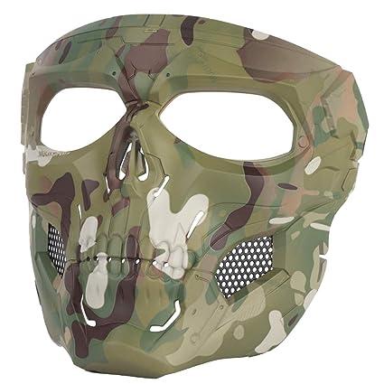 DXX WST Máscaras de Protección Cráneo Airsoft Paintball CS Halloween para niños y Adultos