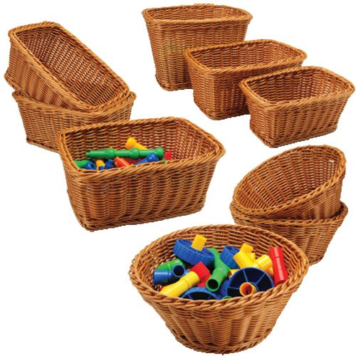 Constructive Playthings CPX-224 Plastic Woven Baskets Set of 9
