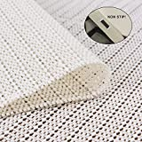 Jointop Non-Slip Area Rug Pad Gripper 3' x 5' for Any Hard Surface Floor Runner Extra Strong Grip Thick Padding,Available in Many Sizes,White