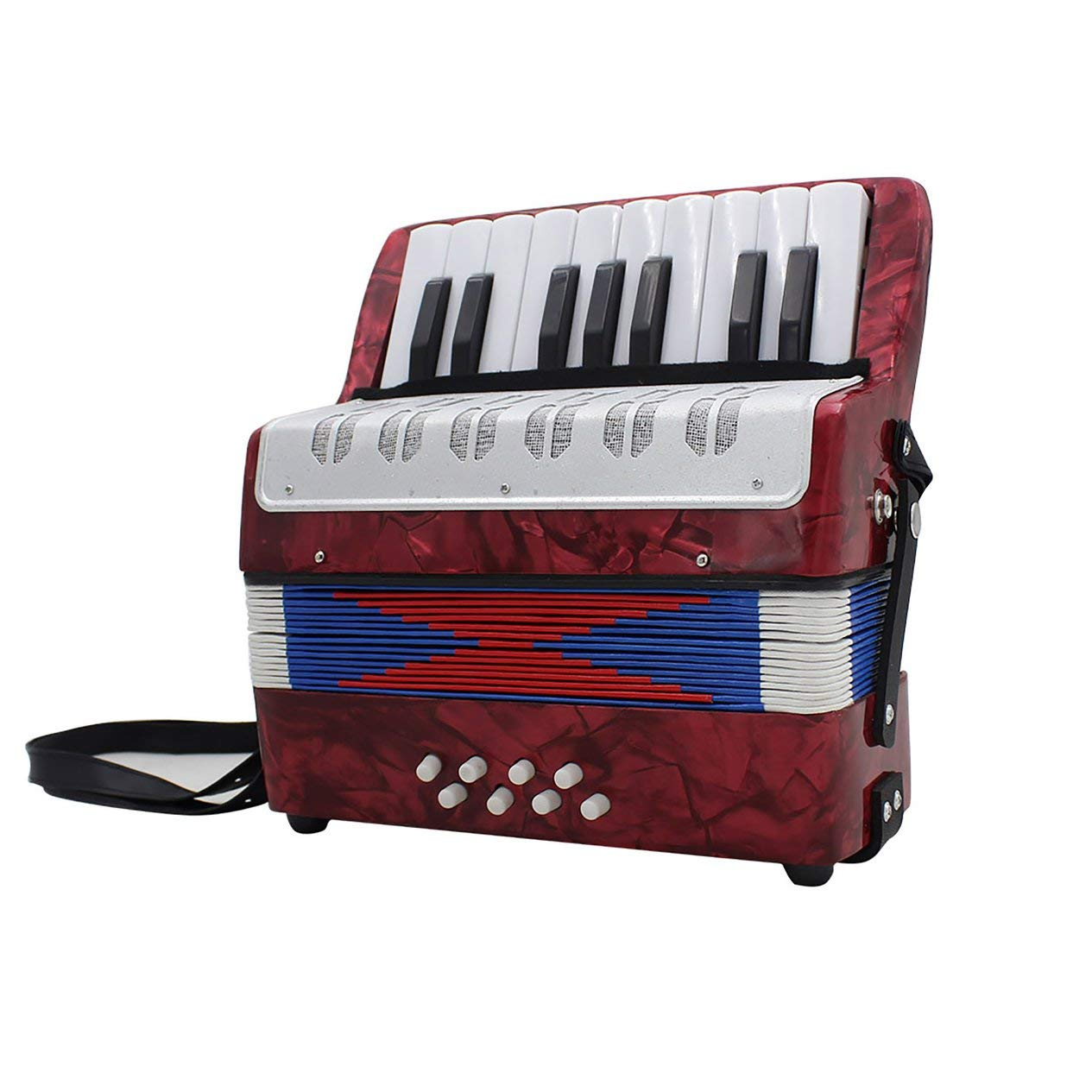 17-Key 8 Bass Accordion Musical Toy for Educational Musical Instrument Simulation Learning Concertina Rhythm by Fashinlook (Image #4)
