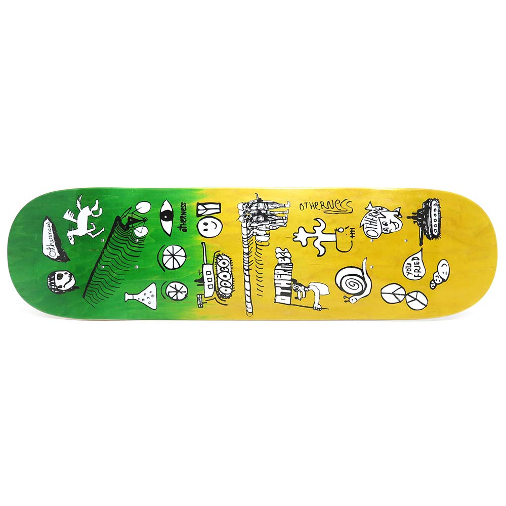 【GINGER掲載商品】 OTHERNESS TEAM DECK アザーネス デッキ TEAM B07PVTLBZN スケートボード YOU FRIED GREEN/YELLOW STAIN 8.25 スケートボード スケボー SKATEBOARD B07PVTLBZN, お庭の玉手箱:0113f58e --- kickit.co.ke