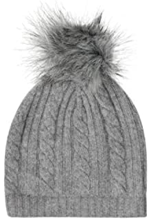 Laycuna 100% Cashmere Hat - Cream  Amazon.co.uk  Clothing c0a68024fc74