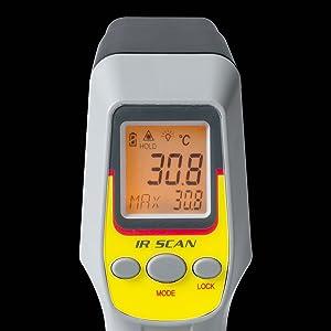 サンワダイレクト 放射温度計 レーザーマーカー付き 400-TST430