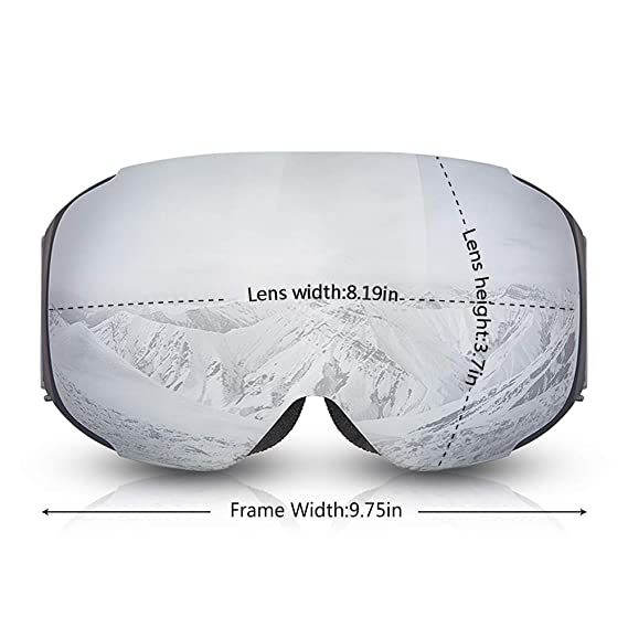 Amazon.com : Snowmobile Windproof Eyewear Ski Goggles Anti-Fog Double Layers UV400 Protection Skiing Skating Detachable Glasses : Sports & Outdoors