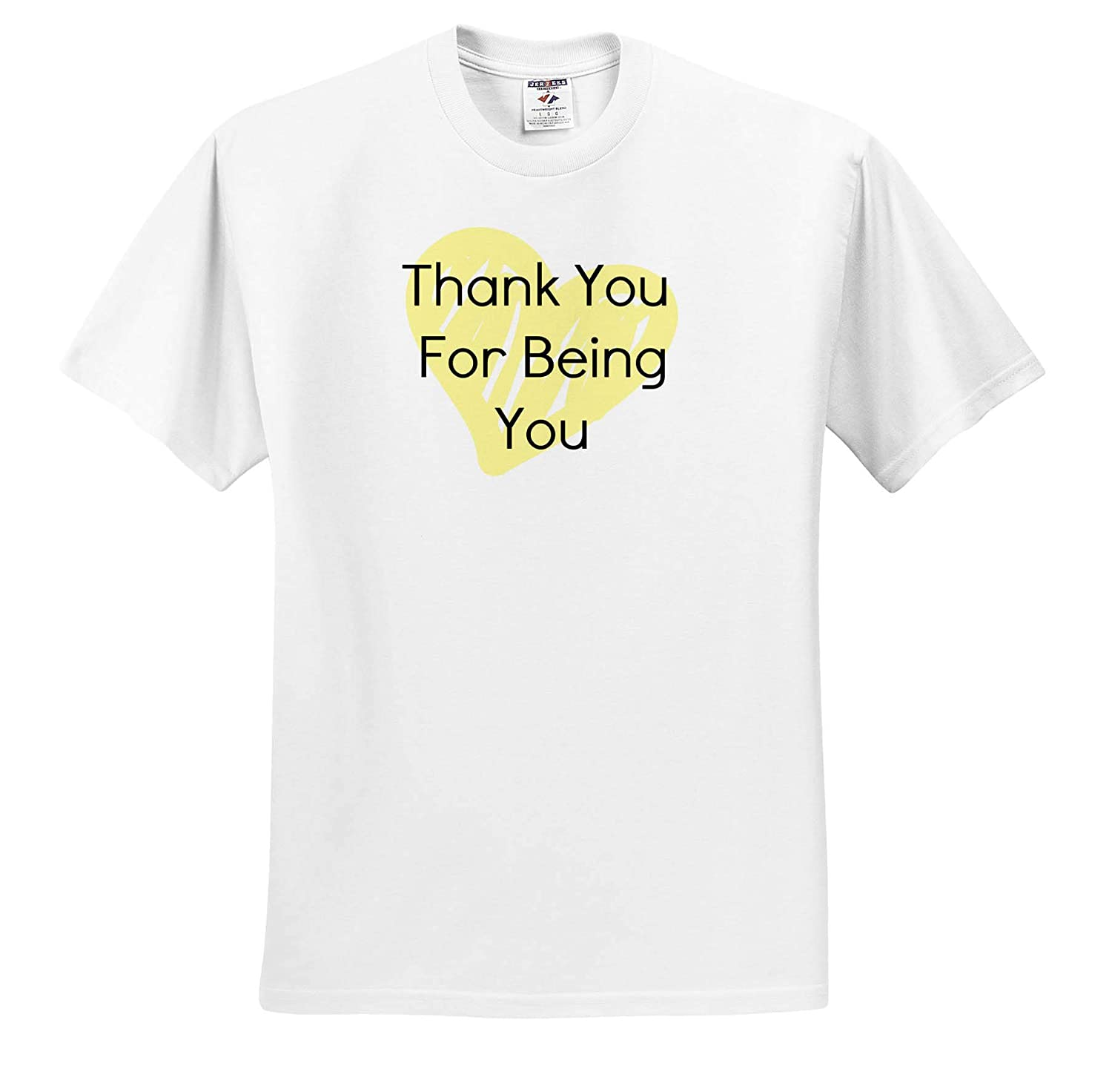 3dRose Carrie Merchant Image Quote Image of Thank You for Being You Adult T-Shirt XL ts/_317455