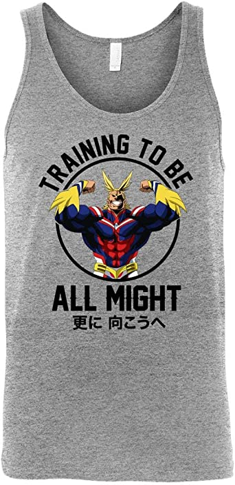 My Hero Academia Inspired Gym Men Unisex Tank Top Boku No Training to Be All Might