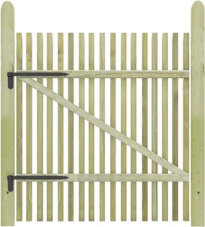 UnfadeMemory Puerta Madera de Jardín Patio o Terraza,Entrada para Valla,Madera de Pino Impregnada FSC (100x125cm): Amazon.es: Hogar