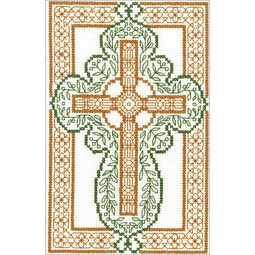 Celtic Cross Counted Cross Stitch Kit-4.5x7.25 14 Count
