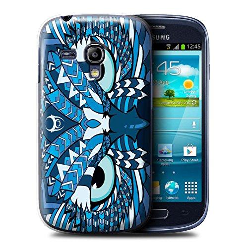 Coque de Stuff4 / Coque pour Samsung Galaxy S3 Mini / Hibou-Bleu Design / Motif Animaux Aztec Collection