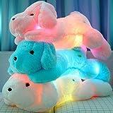 MFEIR® Kreative Nachtlicht LED Kuscheltiere Schöne Hund Glow Plüsch Spielzeug Geschenke für Kinder 45 cm Blau