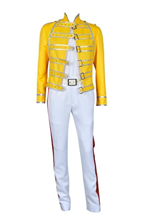 DEREN Queen Band Cosplay Lead Vocals Freddie Mercury - Chaqueta ...