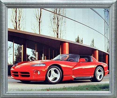 Impact Posters Gallery 1992 Dodge Viper Greg Smith Sports Car Wall Decor Silver Framed Picture Art Print ()