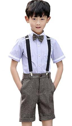 51228d0705761 子供スーツ 男の子 フォーマル 半袖シャツ Yシャツ 七五三 発表会 結婚式 Happy-Online