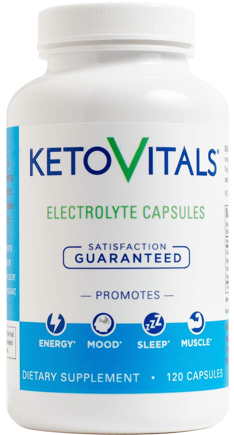 Keto Vitals Electrolyte Capsules | The Original Keto Electrolyte Supplement | Electrolyte Tablets | Eliminate Fatigue and Leg Cramps | Sodium, Potassium, Magnesium & Calcium | Zero Calorie | Zero Carb by Keto Vitals