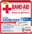 Band-Aid Brand Medium Gauze Pads, for Minor Cut and Scrapes, 3 Inches by 3 Inches, 10 Count by Johnson & Johnson SLC