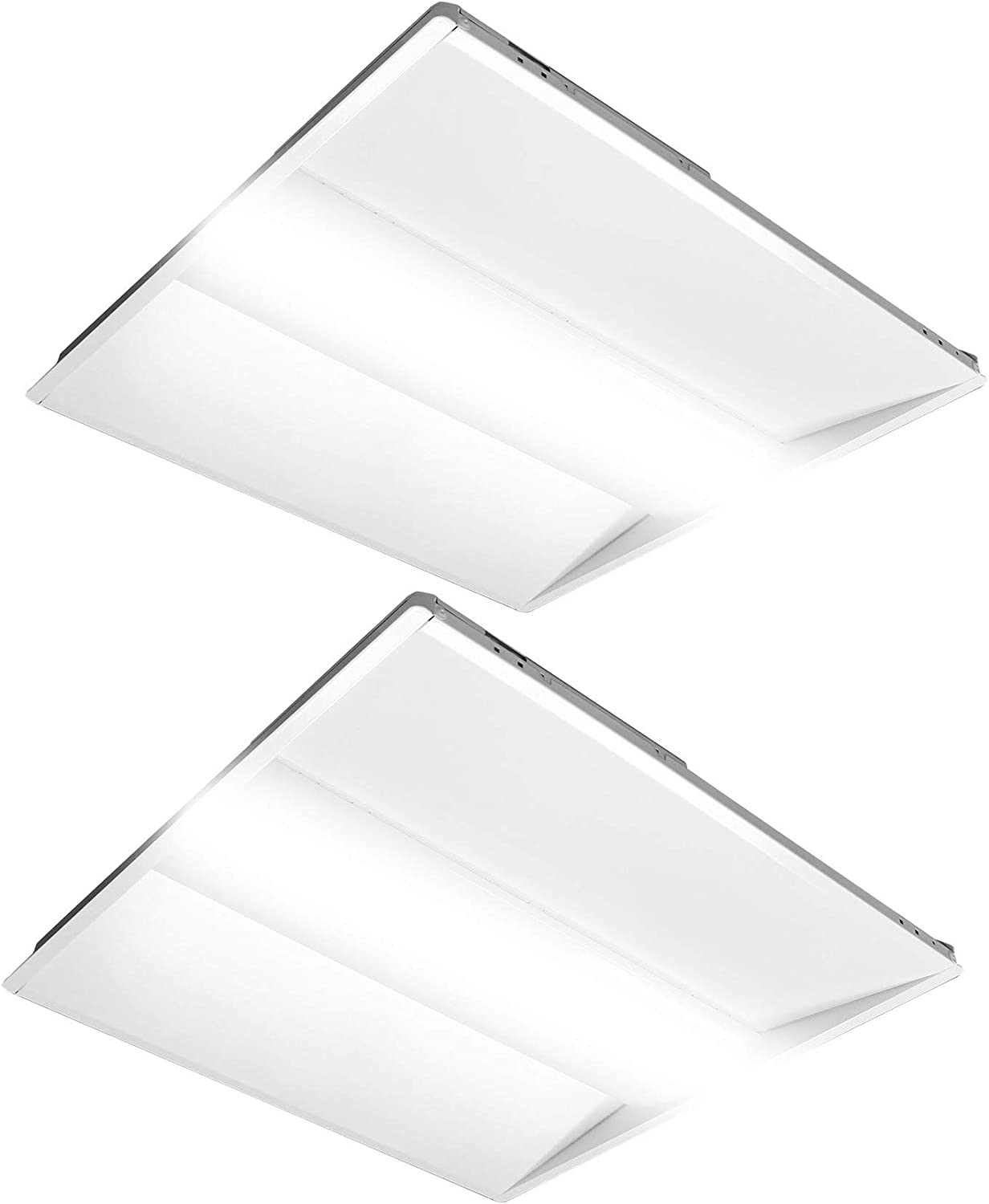 2//PACK 2x2ft 40W Led panel light 5000K Dimmable UL DLC certified troffer lamp