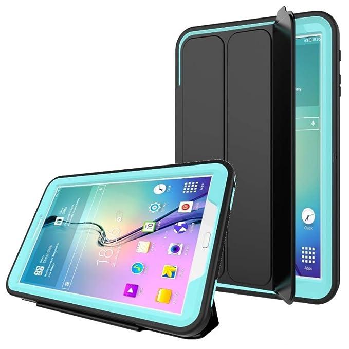PROTECK Funda Samsung Galaxy Tab A 10.1 Cubierta con【Película Protectora Incorporada】+【Función Auto-Sueño/Estela】+【Soporte Trasera Resistente】: ...