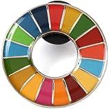 【ALEC】SDGs ピンバッジ 表面が丸みのあるタイプ 台紙無し ケース無し 国連本部限定販売 日本未発売 正規品 輸入証明書コピー付き