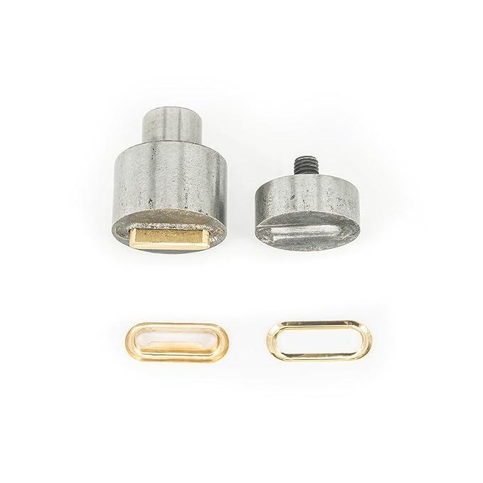Machine presse rivet manuelle universelle Tailles T3/ et T5/ par Trimming Shop verte et matrice pour boutons pression KAM