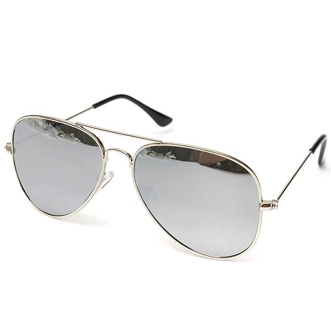 e0ee92f05b8 Silver Kartz UV400 Protection Classic Aviator Unisex Sunglasses  (wy126