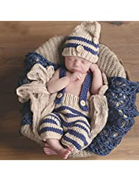 Baby Girls Boys Handmade Newborn Baby Girl Boy Photo Photography Props Crochet Knitted Prop Clothes Outfits Blankets (Style 2)