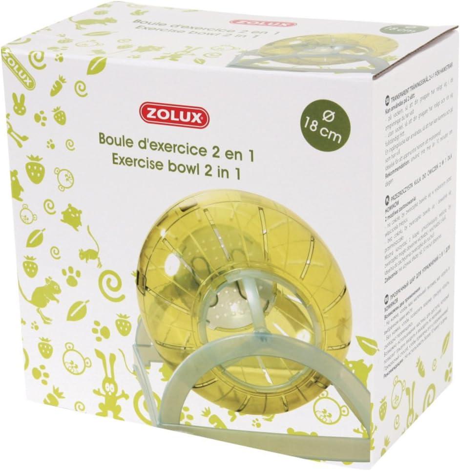 Bola de Ejercicios 2 en 1 diámetro 18 cm Verde Verde: Amazon.es ...