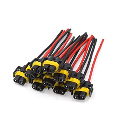 uxcell 10 Pcs H11 H8 880 881 Female Adapter Wiring Harness Sockets Wire Headlights Fog Lights for Vehicle: Automotive