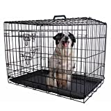 "Cheap Eaglelnw 36"" 2 Doors Wire Folding Pet Crate Dog Cage Suitcase Kennel Playpen"