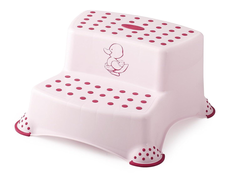 Lulabi 4668305 Sgabello Baby 2 Gradini Little Duck, Rosa Pengo