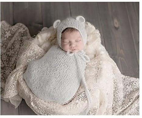 BINLUNNU moda bebé recién nacido fotografía apoyos niño Niña Gorro de Crochet disfraz trajes saco de