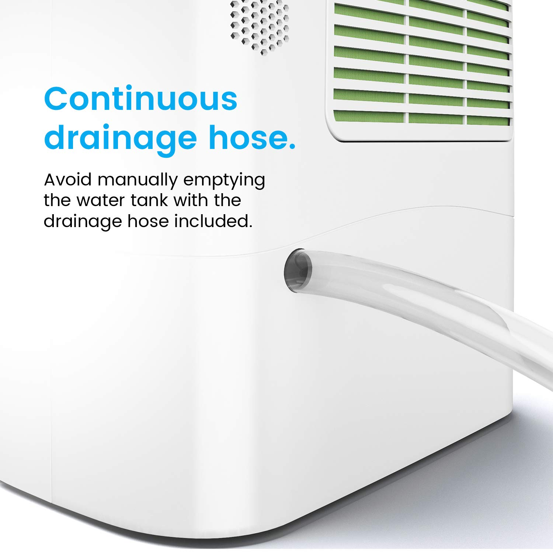 Ablaufschlauch antibakterieller Filter Pro Breeze/™ 10L Luftentfeuchter mit Trockenmittel f/ür kalte Umgebungen optimal gegen Schimmel im Keller Bautrockner mit Zeitschaltuhr LED Display