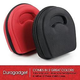 Hard \'Shell\' EVA Headphone Case (Black) - Compatible with the Marshall Major | Major II Bluetooth | Major II Steel Edition | Monitor – by DURAGADGET