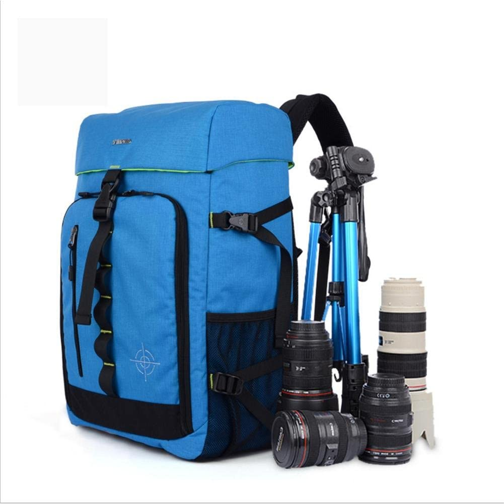 ZGSP Large Capacity Multi-Function Waterproof Nylon Anti-Theft SLR//DSLR Gadget Camera Bag Professional Gear Photography Travel Backpack Rucksack with Inner Padding and Extra Rain Cover