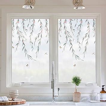 Be&xn Sichtschutzfolie Fensterfolien, No-Glue Statisch Klammern ...