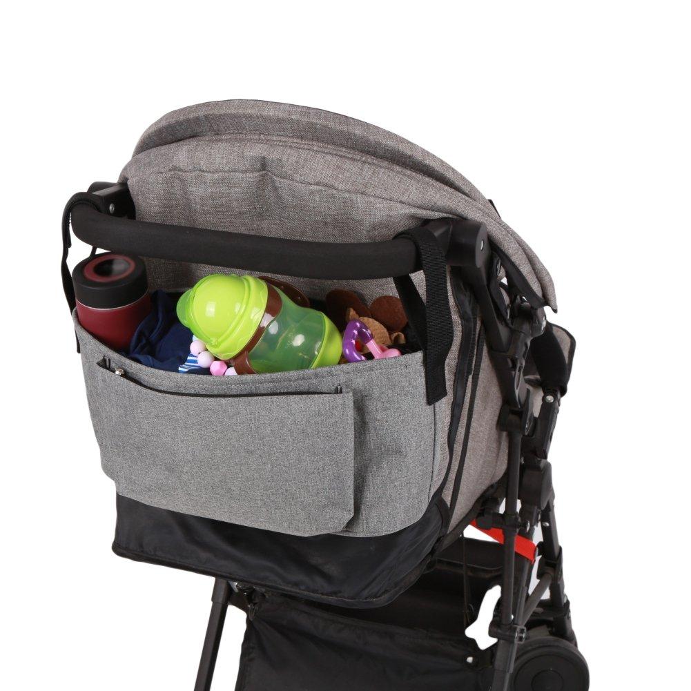 Blaward Baby Buggy Organiser Multifunctional//Baby Stroller Organizer Storage Bag Waterproof//Pram Pushchair Cup Handle Hanging Pallets Bag Diaper Bag Solid Color