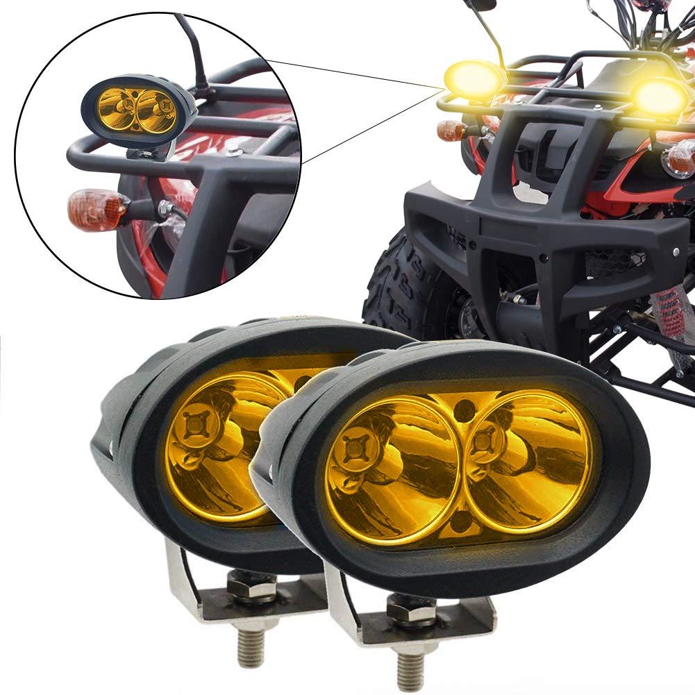 20W Oval Auto LED Spotlights Amber Super Bright Fog Light 12V 24V Truck Off Road Work Lights Spot Beam Driving Lamp jose201606