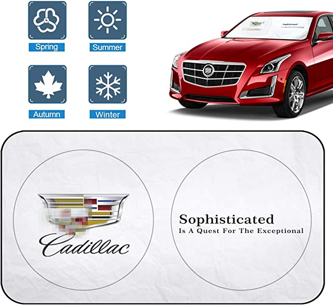 Custom-fit Windshield Sun Shade AutoTech Zone Sun Shade for 2017-2018 Cadillac CT6 Sedan