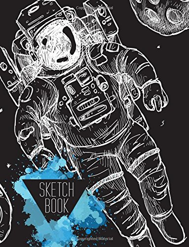 Sketchbook: Cute Space Planet Pattern Sketchbook, 8.5