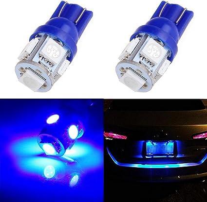 Blue 2 x ICE 5 5050-SMD LED T10 194 168 W5W wedge light bulbs LED Lights