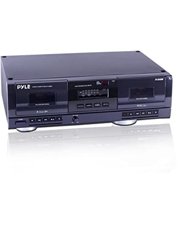 7271681cec96 Dual Stereo Cassette Tape Deck - Clear Audio Double Player Recorder System  w/ MP3 Music
