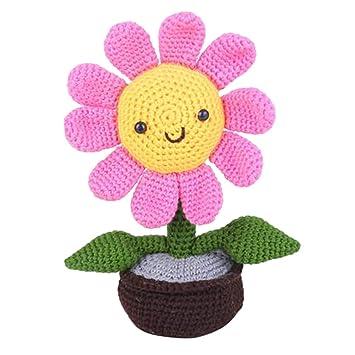 Blumenstrauß CAL - Gratis Häkelanleitung Blumen und Vase ... | 355x355