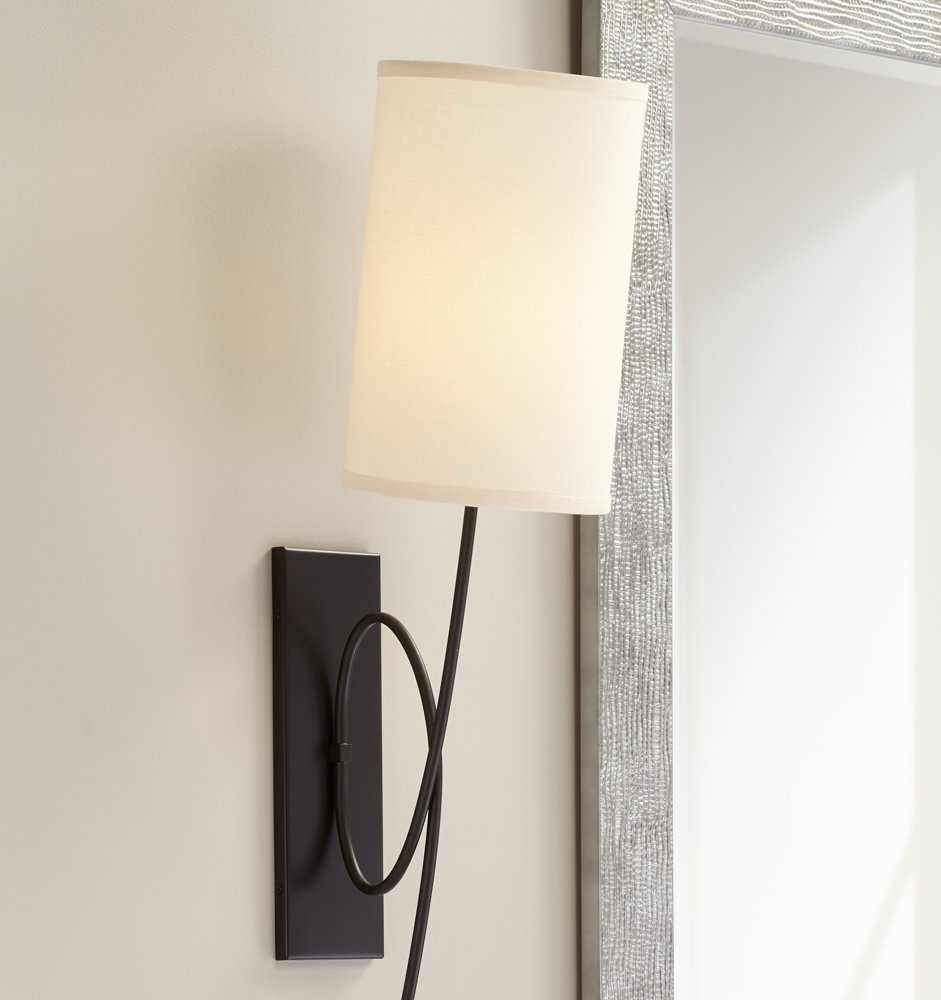 images with plug lamp in lamps wall cover also mounted lights bedroom cord sconce on sconces for light fascinating
