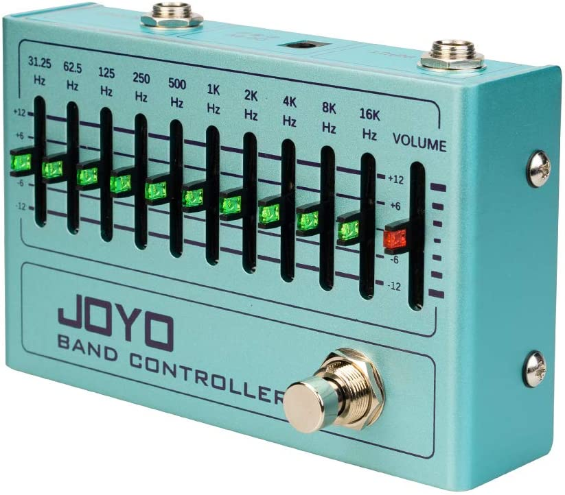 Amazon Com Joyo R Series 10 Band Eq Pedal Equalizer 31 25hz 16khz For Electric Guitar Bass Including 4 String 5 String 6 String 7 String Guitar R 12 Musical Instruments