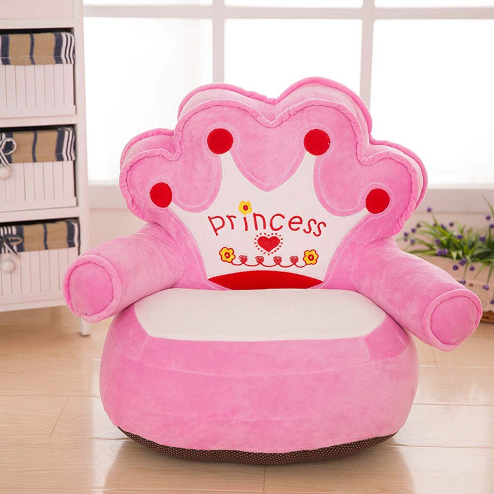 WAYERTY Children Sofa, Kid Sofa Mini Cartoon Baby seat Boy and Girl Single Lazy Reading Upholstered Bedroom Kid Chair-Pink 40x50cm(16x20inch)
