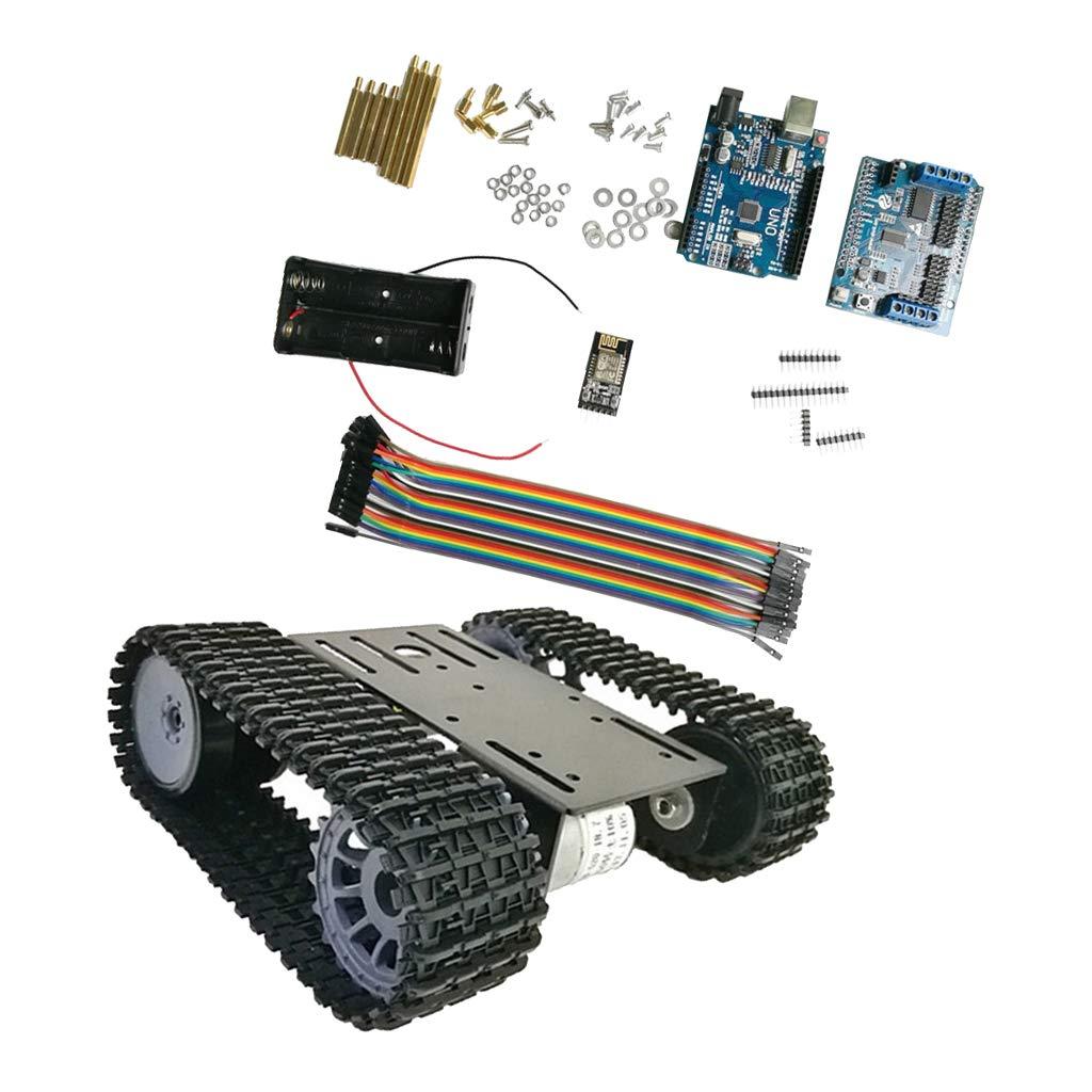 21 Noir  FLAMEER 2WD DIY RC intelligent Robot ChÂssis De Voiture Kit Encodeur De Vitesse Moteur pour Arduino -  25 Jaune