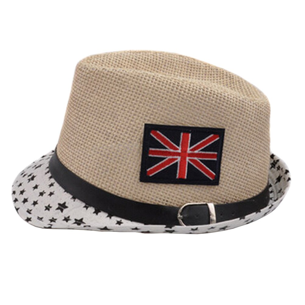 Unisex Kids Fedora Hat Bucket Hat, Lightweight Cap Sunhat Union Jack Black Star Kylin Express